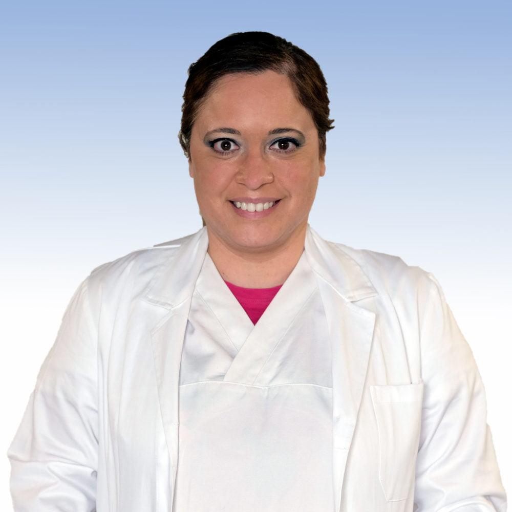 Dottoressa Silvia Pugliarello. dermatologa dell'IRCCS Ospedale Sacro Cuore Don Calabria